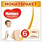 Huggies Windeln Ultra Comfort Baby Größe 6 Monatsbox, 1er Pack (1 x 102 Stück)