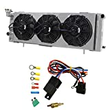 xj 3 row radiator - OzCoolingParts Pro Top 3 Row Core Aluminum Radiator + 3 x 9