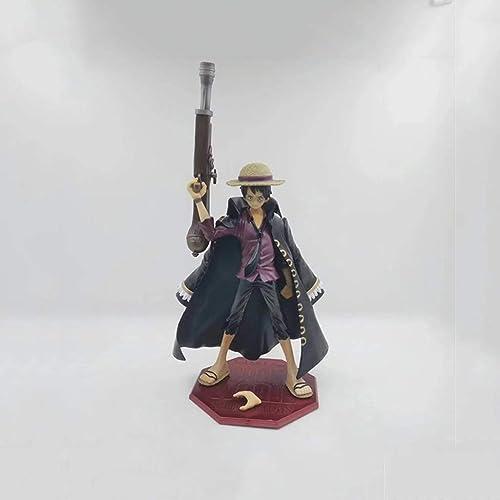 Anime Pirates Roi Nautique voituretoon Noir Luffy Jeu Personnage Nouveau Monde 10ème Anniversaire Modèle Statue Hauteur 23cm LYLQQQ