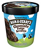 Ben & Jerry's - Vermont's Finest Ice Cream, Non-GMO - Fairtrade - Cage-Free Eggs - Caring Dairy - Responsibly Sourced Packaging, Chocolate Fudge Brownie, Pint (8 Count)