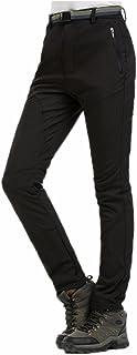 Tinksky Pantalon Softshell Femme Pantalon de Ski imperm/éable Coupe-Vent pour Sport Randonn/ée Camping Running Ski Gris