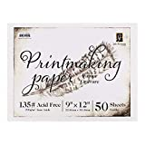 Richeson Printmaking Paper, 135# 9x12 inches, 50 Sheets (100768)