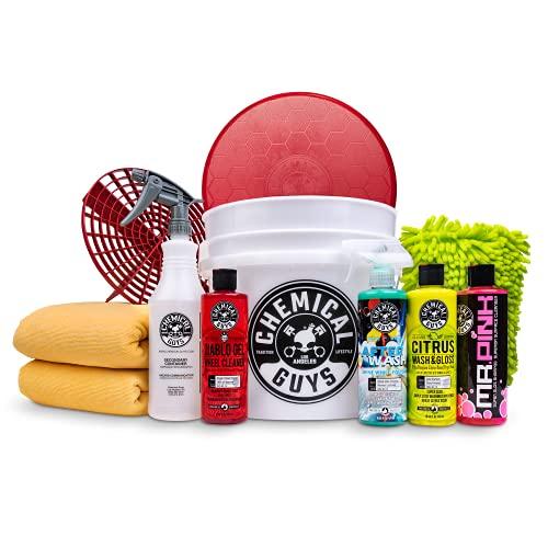 Chemical Guys HOL121 Best Car Wash Bucket Kit, 11 Items