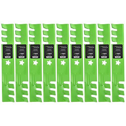 8TEN LawnRAZOR Mulching Blade 46 Inch Deck for Husqvarna YTH 1746 2046 157033 159705 176084 170698 532176084 9 Pack