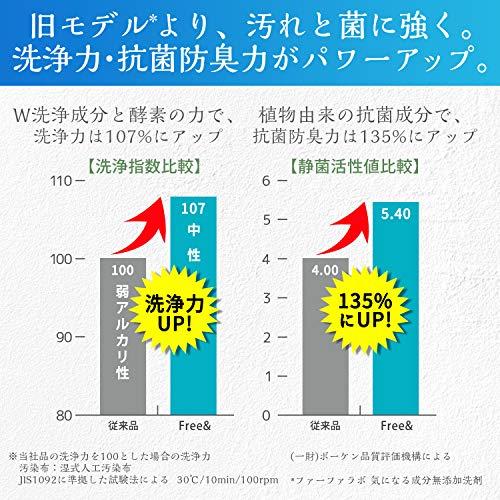 ファーファフリー&超コンパクト液体洗剤無香料超特大詰替4.5kg
