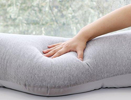 [Amazon限定ブランド]teletサンデシカ妊婦さんのための抱き枕(クラウド)マイクロビーズグレー4261-0027-09