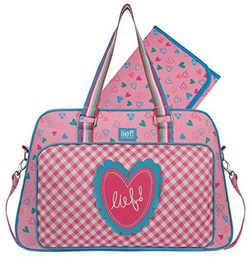 Lief 440-6156 wikkeltas Sprinkles, 31 x 39 x 14 cm, roze