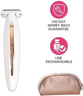 女性のUSB電気シェーバー/ストリッパー/脱毛器、桃の毛羽/顔の毛/唇/あごのための携帯用電気痛みのない毛のトリマー