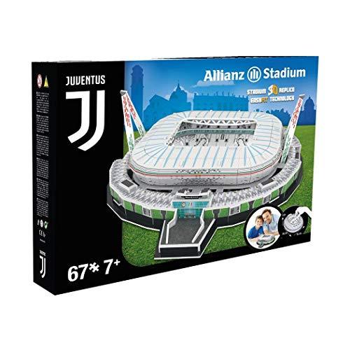 NANOSTAD Juventus Stadium 3D Puzzle Juventus Torino, 67 Pezzi, in plastica e Cartone, in Confezione Regalo