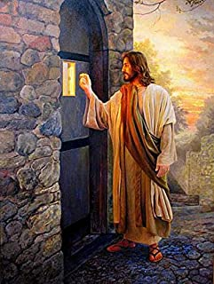 Vmnbstitch 5D DIY Diamond Painting Jesus coming knock at door full Round drill diamonds embroidery Cross Stitch Home Decor Pictures