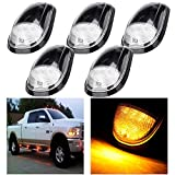 cciyu 5 Pack Top Roof Marker Lights Kit Built-in LED Amber Bulbs Replacement fit for 2003-2016 for Dodge for Ram 2500 3500 (Clear Lens Amber Bulb)