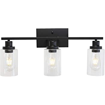 Melucee 3 Lights Wall Sconce Brushed Nickel Finished Modern Bathroom Vanity Light Fixtures With Clear Glass Shade Suit For Porch Bedroom Foyer Kitchen Amazon Com