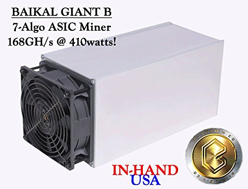 Baikal Giant B, 7-Algo ASIC Miner, 168GH/s @ 410watts!! New, In-Hand USA Ship
