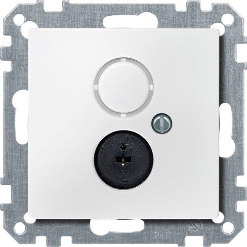 Merten 295919 Lautsprecher-Steckdosen-Einsatz, polarweiß, System M