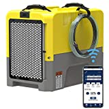 ALORAIR 180PPD Large Dehumidifier for Basement, Wi-Fi APP Controls with Pump, Capacity up to 85 PPD at AHAM Condition, for Large Space, Job Sites, Yellow