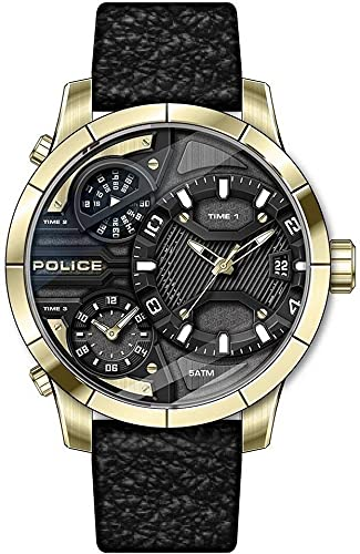 Police Herren-Uhren Analog Quarz One Size Gold 32017662