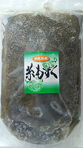 国産 ( 沖縄県産 ) 冷凍 洗い もずく ( 細 ) 1kg×2P 味付け無し