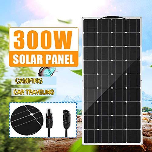 XHJZ Flexible Solar Panel 300W 18V Solarzellenmodul Seilbahn für RV Boot Hauptdach Camping SUV 18V Monokristalline Solar-Ladegerät