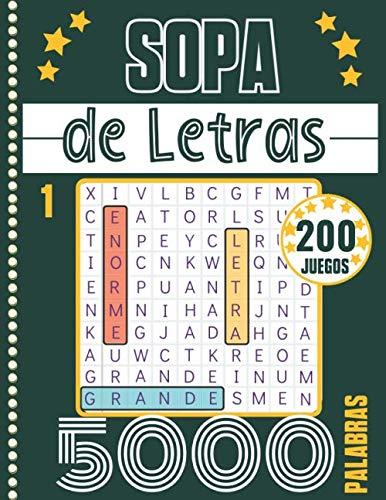 Sopa de Letras: Adultos y Mayores - Letra Grande & Gran Formato...