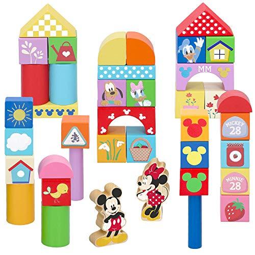 WOOMAX - Bloques Construcción bebé Juego construcción 40 piezas - Juguetes para apilar Equilibio y ordenar - Juegos de construcción para niños Juguetes bebé 1 2 3 años