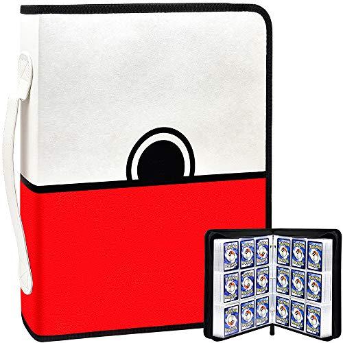 PAIYULE Kartenordner für Pokemon Sammelkarten Hüllenhalter Album, 720 Taschen mit Aufbewahrungshülle für PM TCG Kartenspiel, C.A.H., Phase 10, Baseball mit 40 Premium 18-Taschenblättern