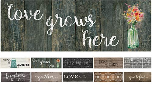 """J&V TEXTILES 20""""x55"""" Oversized Cushioned Anti-Fatigue Kitchen Runner Mat (Love Grows Here)"""