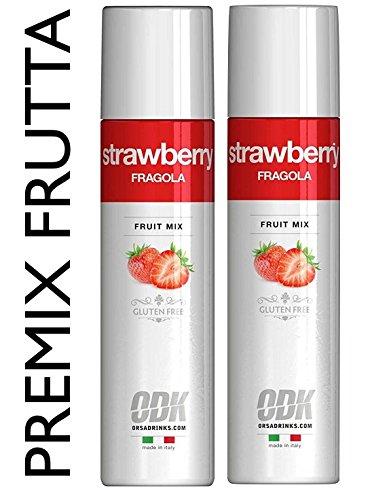 2 x FRUIT MIX FRAGOLA Polpa di frutta 750 ml / 1kg