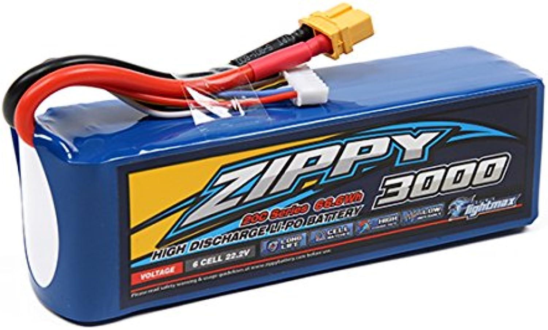 Zippy Flightmax 3000mAh 6S 20C Lipo Pack w XT60U Connector