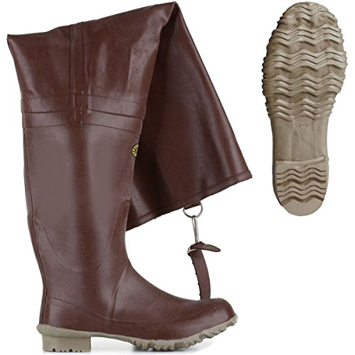 Stivali in gomma - 7666-rbrm - Brown - 41
