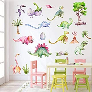 AIYANG Dinosaur Wall Decals Dino Wall Stickers for Boys & Girls Bedroom Playroom (Forest Style)