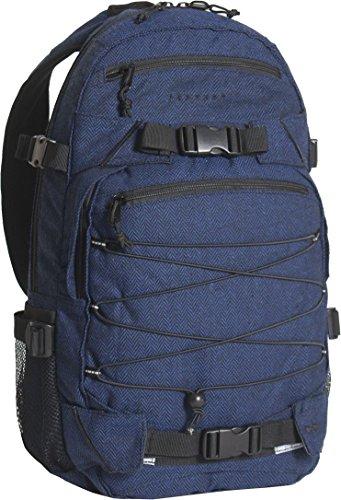 FORVERT Unisex Bag New Louis sportlich-lässiger Daypack mit durchdachter Ausstattung im spannendem Materialmix, blau (Flannel Navy)