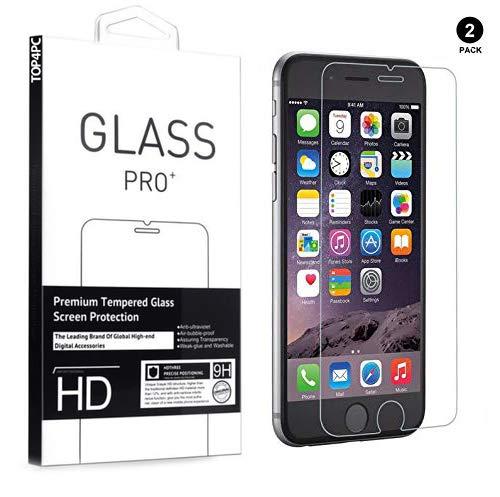 [2 Pack] Verre Trempé pour iPhone 7 / iPhone 8, Protecteur d'écran pour Apple iPhone 7 / iPhone 8 écran Protection pour iPhone 7/8 Transparence et Ultra résistant, sans Bulles