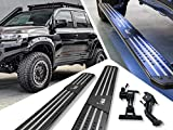Tyrant 4X4 Power Steps Electric Running Boards for Toyota Land Cruiser 200 Series, Plug N' Play, Automatic Retractable Electric Side Steps with LED Lights