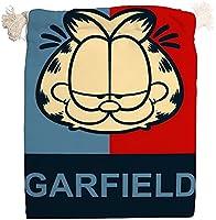 ガーフィールド 巾着袋 中 給食袋 ギフトバッグ 小物入れ コップ袋 こども お弁当 保育園 男の子 女の子 おしゃれ かわいい キャラクター (20x25cm)