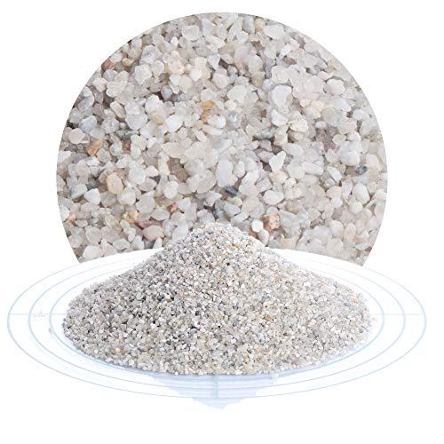 25 kg heller Filtersand, Filterkies, Quarzsand für Sandfilteranlagen, zur Wasserreinigung Wasseraufbereitung von Pool, Teich, Badeteich von Schicker Mineral (Filtersand/Filterkies natur, 1,0-2,0 mm)
