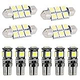 Muchkey Ampoules de Voiture Lampe pour A4L A5 S5 LED Canbus sans Erreur Voiture Lampe D'immatriculation...