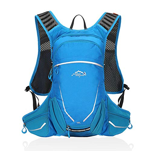 Lankfun Borsone da Viaggio,Zaino da Equitazione Outdoor Zaino da Alpinismo da Trekking Impermeabile-Blue_48 * 30 * 14,Borsa Multitasche