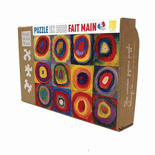 Puzzle Michèle Wilson - Puzzle Carrés avec Cercles de Kandinsky ( PT-K446-12 )