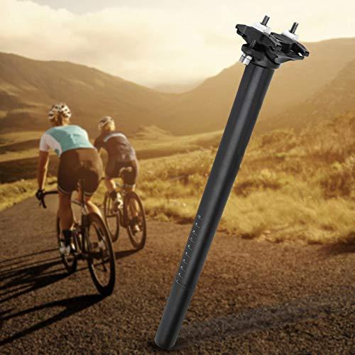 SALUTUYA Tubo de Asiento de Bicicleta de aleación de Aluminio con Dos Tornillos con Escala de Seguridad, Gran(27.2 * 400MM Black)