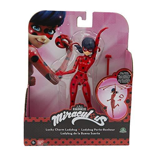 Giochi Preziosi Italy - Miraculous Personaggio Deluxe Ladybug con 2 Accessori, 19 cm