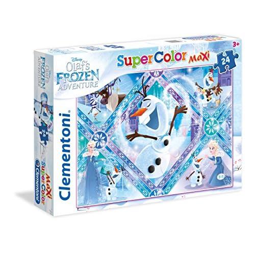 Clementoni- Olaf's Adventure Supercolor Puzzle, 24 Pezzi, 24072