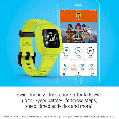 Garmin vivofit jr. 3, Fitness Tracker for Kids, Includes Interactive App Experience, Swim-Friendly, Up To 1-year Battery Life, Digi Camo, adjustable watch (010-02441-20)