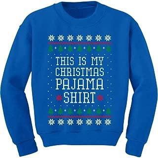 This is My Christmas Pajama Shirt PJs Ugly Christmas Youth Kids Sweatshirt