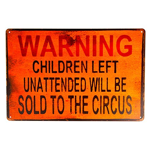 yunuo-Tin signs Warning Children Metal Poster Bedroom Pub Home Decor Craft Wall Painting