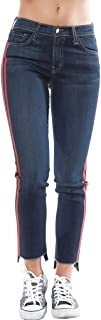 Skinny Jeans Red Double Side Stripes Blue