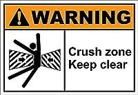 インテリアバーパブビンテージルック複製クラッシュゾーン明確な警告ティンサインヴィンテージの壁の装飾カフェバーパブホームビールデコレーションクラフトレトロビンテージサイン