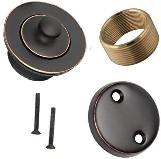 Wood Grip Universal Conversion Kit Bathtub Tub Drain Assembly, All Brass Construction (Oil Rubbed Bronze)