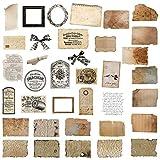 72 piezas de pegatinas de papel de álbum de recortes vintage Pegatinas Etiquetas Adhesivas Pegatinas de decoupage vintage para diario Álbum de recortes Manualidades de bricolaje
