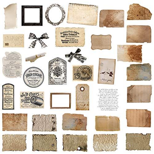 72 pezzi adesivi vintage adesivi di carta vintage scrapbook antico adesivi in carta stile retrò autoadesivi forniture per Diario Album Fotografico Notebook Calendario Decorazione Scrapbooking