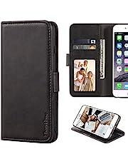 Oukitel WP12 Hoesje, lederen portemonneehoesje met cash & kaartsleuven zachte TPU achterkant magneet Flip case voor Oukitel WP12